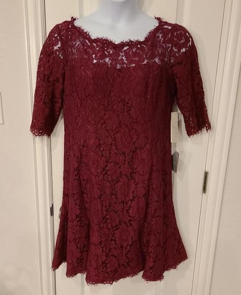 NWT Eliza J. Red Lace Dress